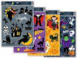Dětské okenní folie 30 x 42 cm - halloween glitr