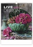 Kalendář nástěnný obrázkový - Live Design / N260