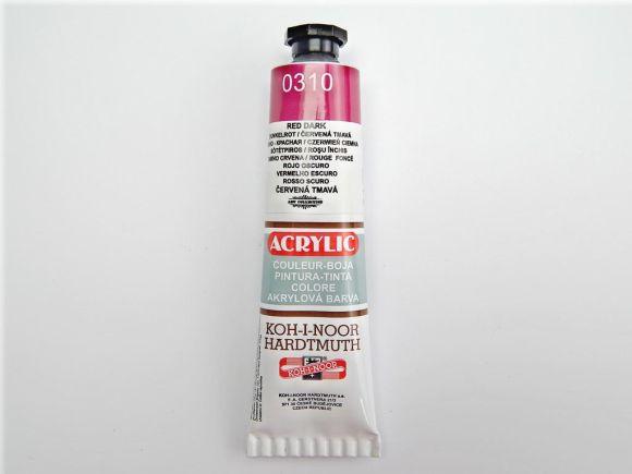 Barva 162715 / 0310 tm.červená akrylová 40