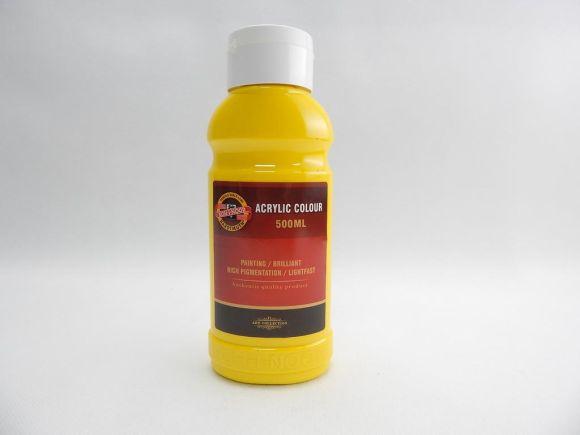 Barva akrylová 500ml žluť tmavá Koh-i-noor 1627/0210