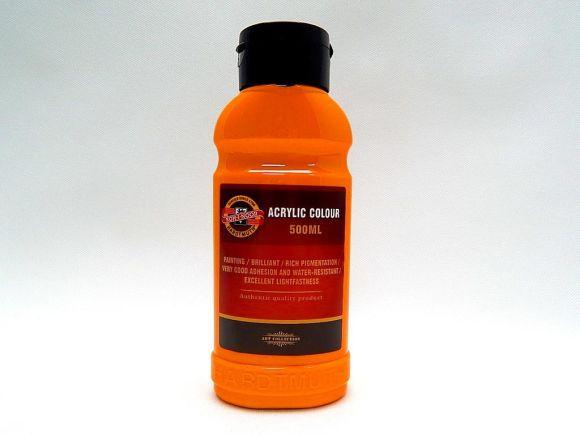 Barva akrylová 500ml oranžová světlá Koh-i-noor 1627/0220