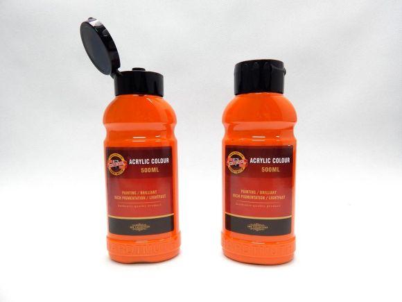 Barva akrylová 500ml oranžová tmavá Koh-i-noor 1627/0230