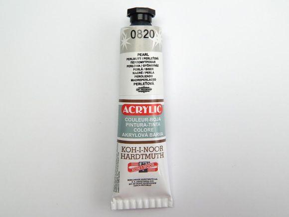 Barva 162726 / 0820 perleťová akrylová 40m