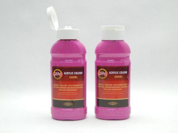 Barva akrylová 500ml  magenta Koh-i-noor 1627/0315