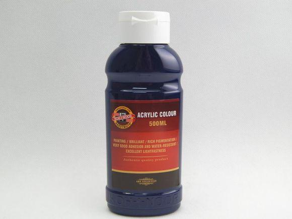 Barva akrylová 500ml modř pařížská Koh-i-noor 1627/0440