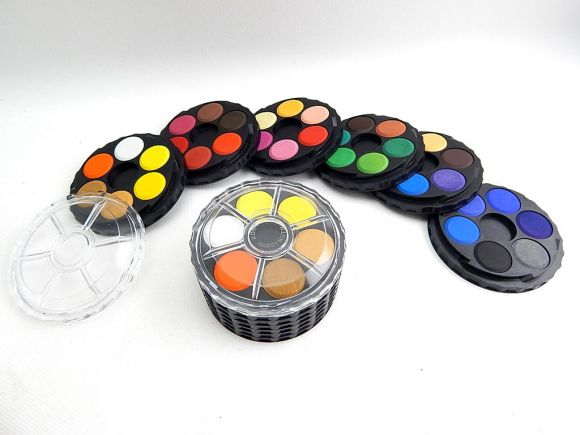 barvy vodové kulaté 36