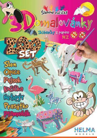 3D omalovánky ZOO set/ A4