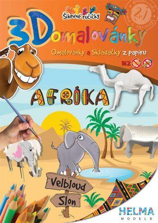 3D omalovánky Afrika Slon + velbloud