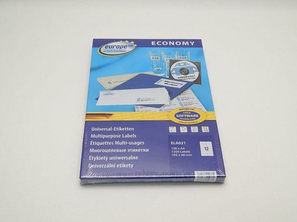 Etikety 105x48mm, bílé ELA021