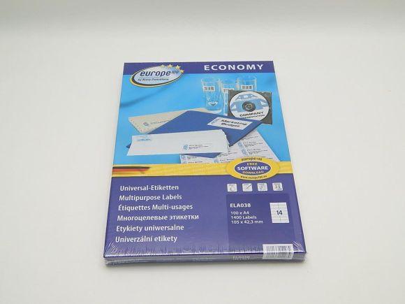 Etikety 105x42,3mm, bílé ELA038