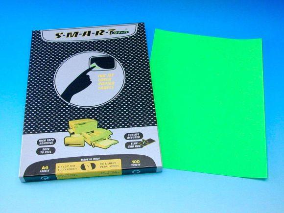 Etikety SMART 210x297 zelené