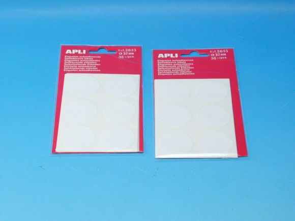 Etikety APLI pr.32mm bílé (2665)