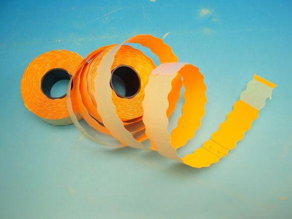 Etikety cenové 26x12 UNI  signální oranžové