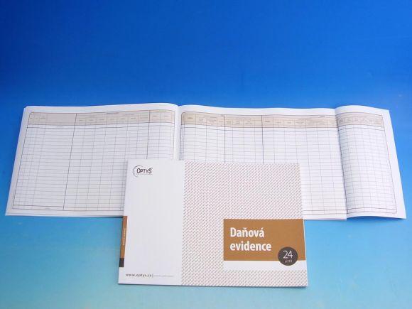 Deník peněžní s klopou A4, 24 listů /OP1001/