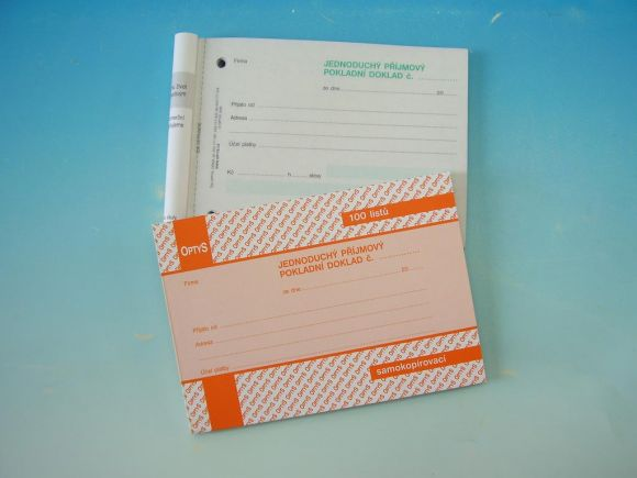 Doklad příjmový pokl. jedn. A6 NCR, propis.,100l /OP1302/