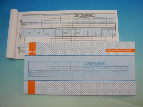 Alonž - karbon 29,7x14  100 l. /OP1175/