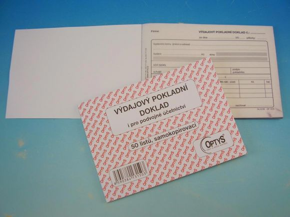 Doklad výdajový A6 50 l. NCR, propis. /OP1315/