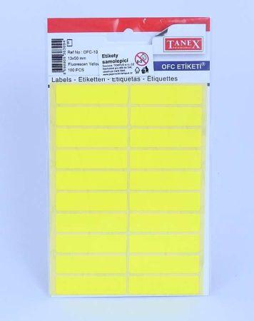 Etikety v sáčku neon 13 x 50 žluté OFC - 109 / 100 ks