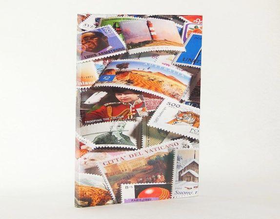 Zásobník na známky A4, 16 černých str., motiv známek /328485/