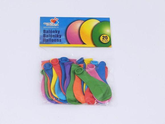 Balónek naf. pastel., pr. 19cm, 20ks /PA70/