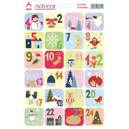 Vánoční samolepky - adventní kalendář