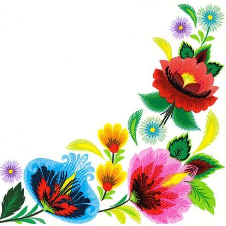 Papírový ubrousek Floral Folk Frame