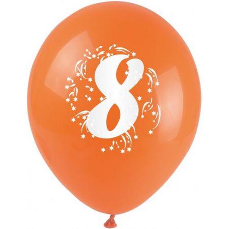 Balónky nafukovací - s číslem 8