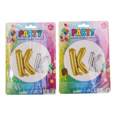 Balonky nafukovací ve tvaru písmene K