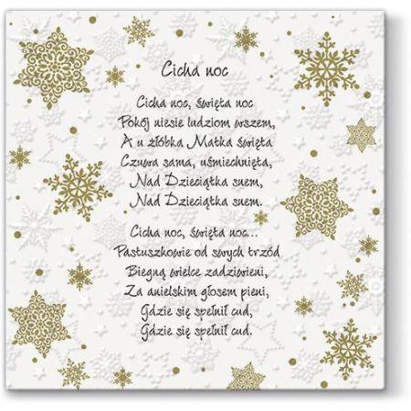Vánoční papírový ubrousek Inspiration Winter Flakes Polish Carols