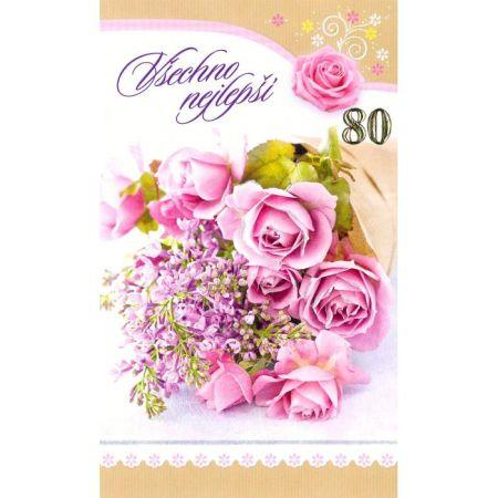 Srdečné přání 80 let Mezuza 01-623 s textem