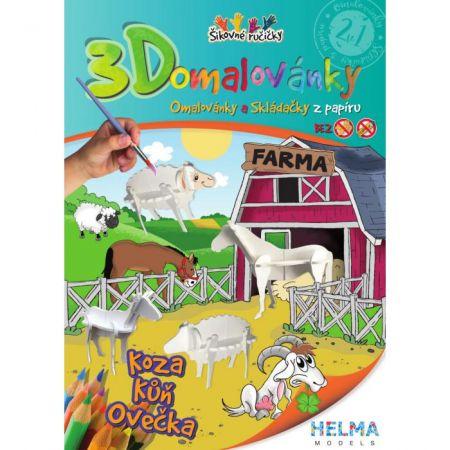 3D omalovánky Farma