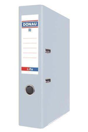 Pákový pořadač Life, pastelová modrá, 75 mm, A4, PP/karton, DONAU