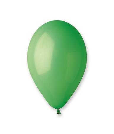 Balónek, 30 cm, zářivě zelený ,balení 100 ks