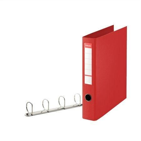 Kroužkový pořadač Jumbo, Vivida červená, 4 D kroužky, 60 mm, A4 maxi, PP, ESSELTE