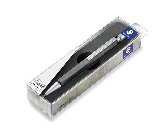 Kuličkové pero 441CONB9-9 Concrete, černá, 0,5 mm, betonové tělo, STAEDTLER