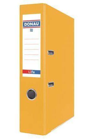 Pákový pořadač Life, neonová žlutá, 75 mm, A4, PP/karton, DONAU