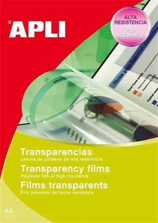Fólie pro zpětné projektory, pro inkoustové tiskárny, A4, APLI ,balení 100 ks