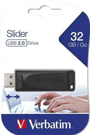 32GB USB Flash 2.0 Slider, VERBATIM, černý