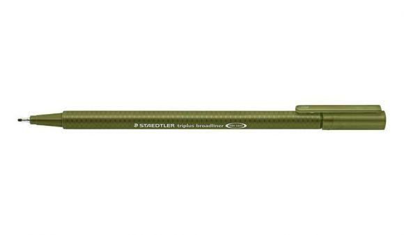 Broadliner Triplus 338, olivově zelená, 0,8 mm, STAEDTLER