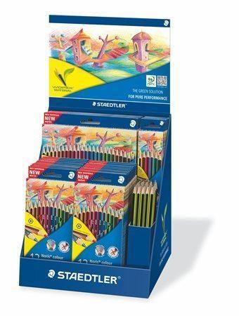 Displej Barevné pastelky a grafitové tužky Noris Colour a Noris Eco, STAEDTLER