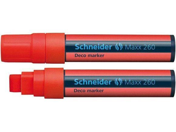 Křídový popisovač Maxx 260, červená, 2-15mm, tekutý, SCHNEIDER