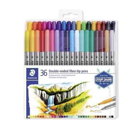 Fixy Design Journey, sada 36 různých barev, 0,8/3,0 mm, oboustranné, STAEDTLER