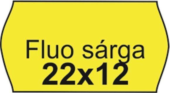 Cenové etikety, 22x12 mm, fluorescentní žluté ,balení 10 ks