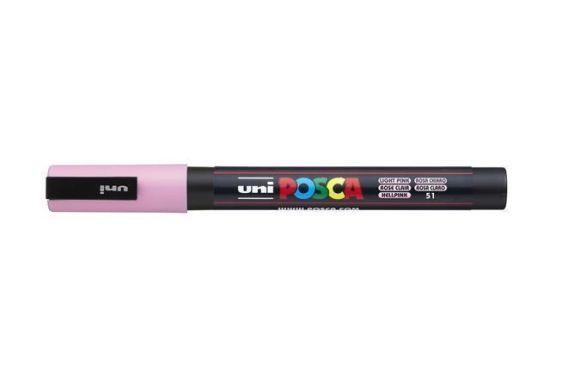 Akrylový popisovač Posca PC-3M, světle růžová, 0,9-1,3 mm, UNI