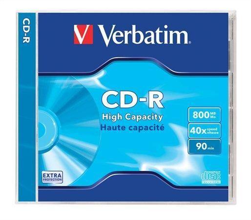 CD-R 800MB, 90min., 40x, Verbatim, jewel box