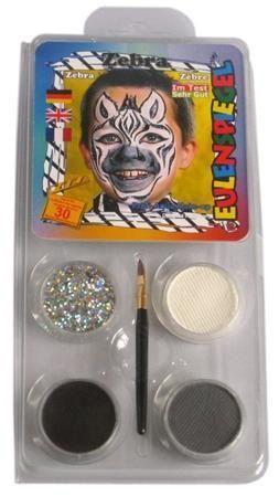 Sada barev na obličej - Zebra, EULENSPIEGEL