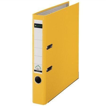 Pákový pořadač 180°, žlutá, 50 mm, A4, PP/karton, se spodním kováním, LEITZ