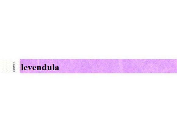 Identifikační náramky, 3/4, levandulová, tyvek ,balení 100 ks