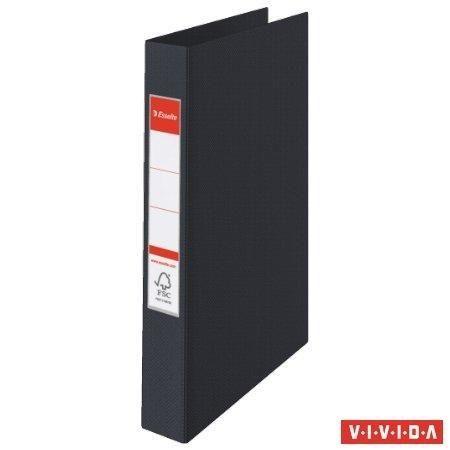 Kroužkový pořadač Standard, Vivida černá, 4 kroužky, 42 mm, A4, PP, ESSELTE
