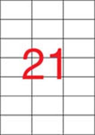 Etiketa, ILC, 70x42,4 mm, třířadé, 2100 ks/bal., APLI ,balení 100 ks